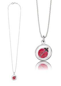 Herzengel Kette mit Anhänger »Marienkäfer als Symbol für Glück, HEN-GLAS-08LUCK«, mit Glaslinse und Emaille