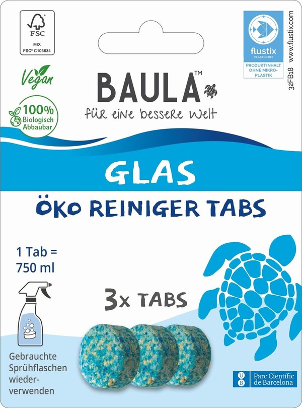 Biobaula  Glas ÖKO Reiniger 3 Tabs