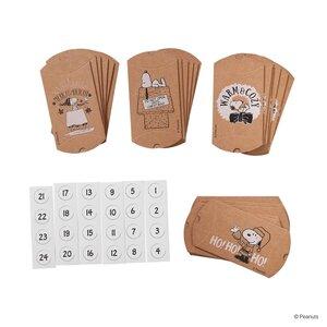 PEANUTS Adventskalender Snoopy 24 Schachteln inkl. Zahlenaufkleber