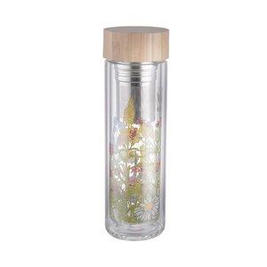 TEA TENDER Teeflasche mit Blumendruck 450ml