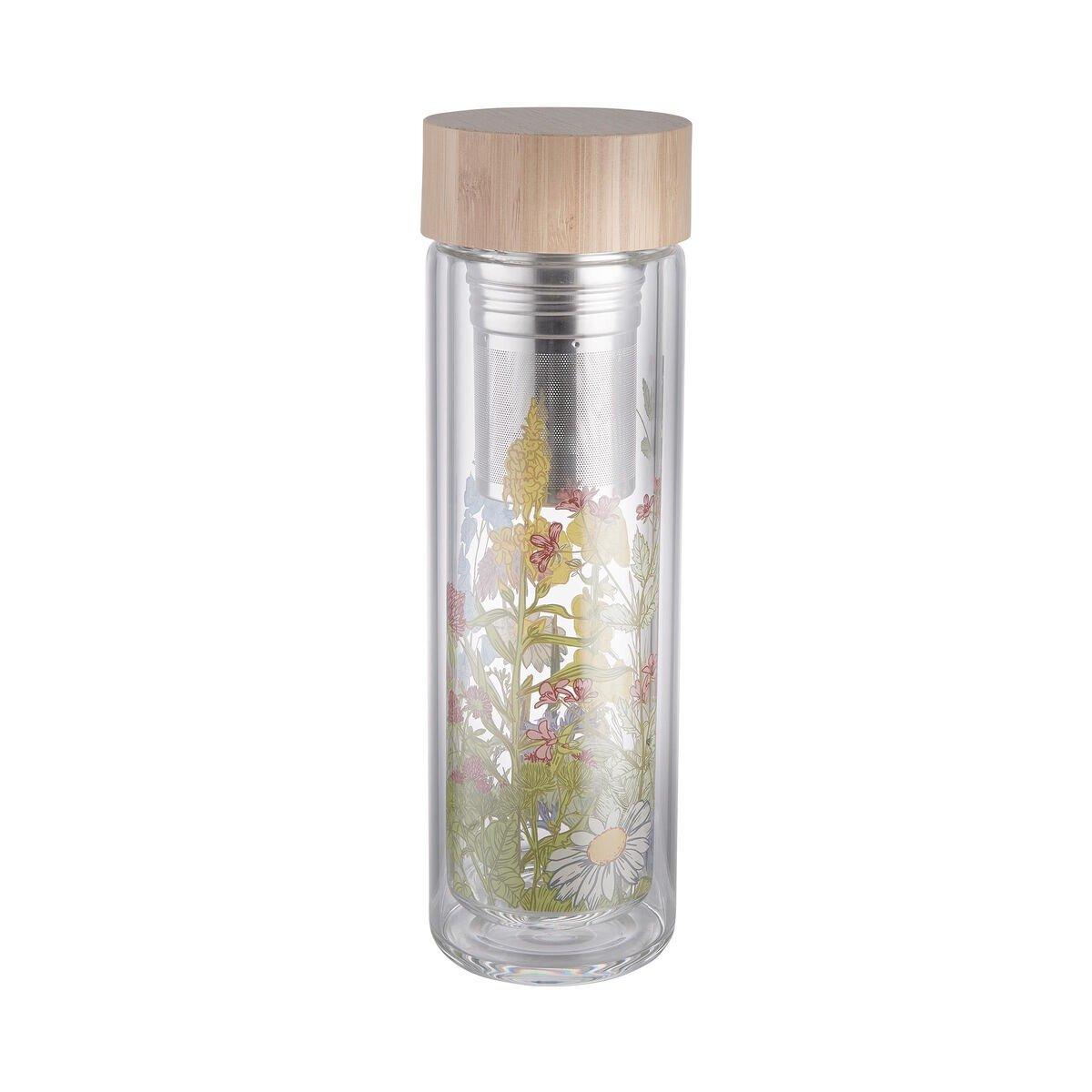 Bild 1 von TEA TENDER Teeflasche mit Blumendruck 450ml