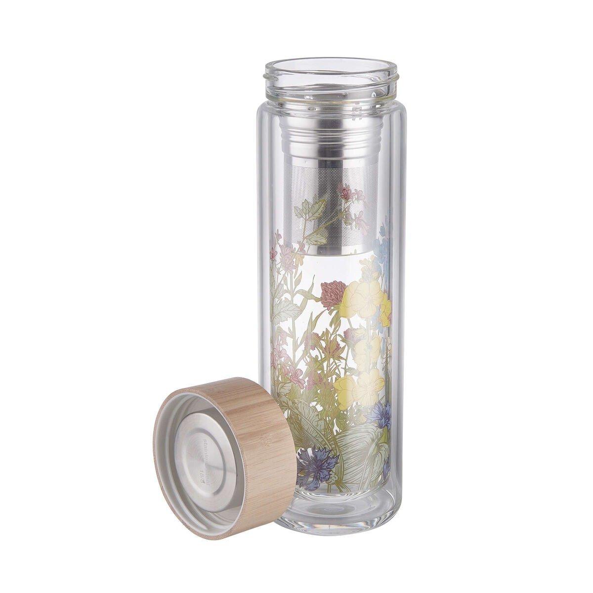 Bild 3 von TEA TENDER Teeflasche mit Blumendruck 450ml