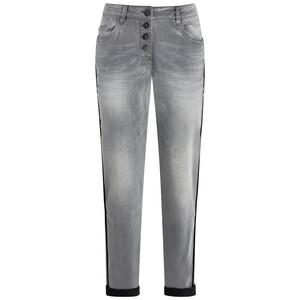 Damen Boyfriend-Jeans mit Used-Waschung