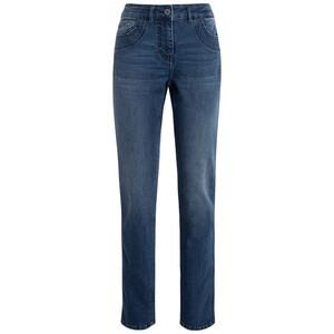 Damen Straight-Jeans mit Galonstreifen