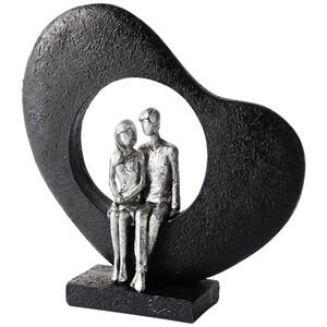 Deko-Skulptur mit Liebespaar