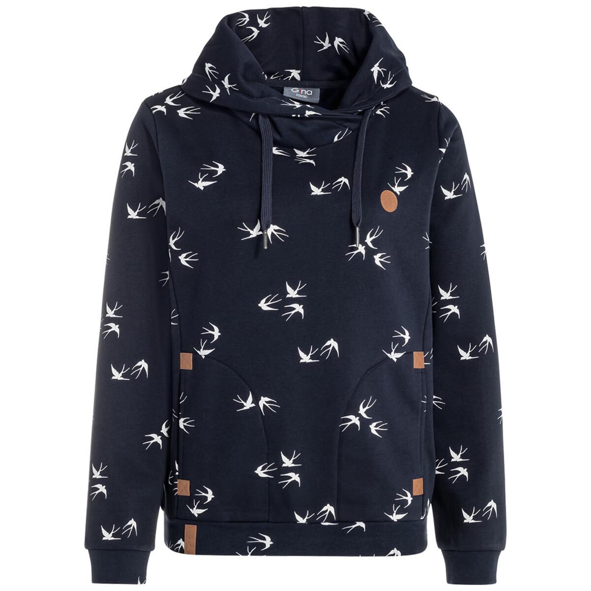 Bild 1 von Damen Sweatshirt mit Schwalben-Allover