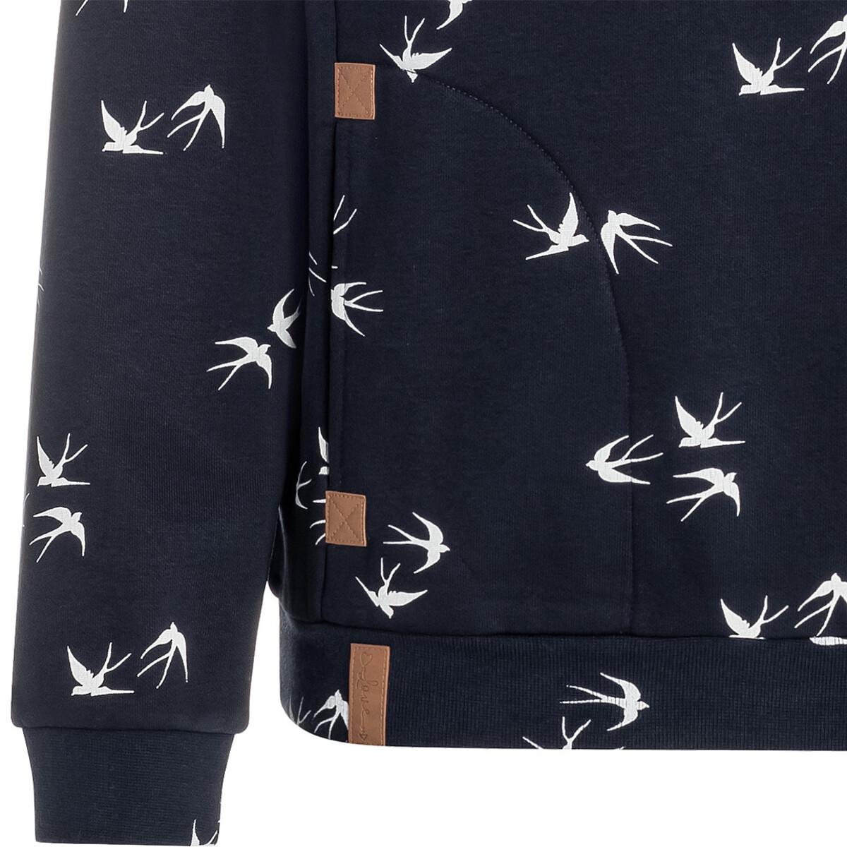 Bild 4 von Damen Sweatshirt mit Schwalben-Allover