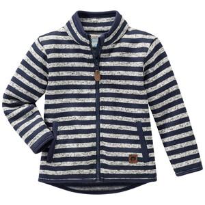 Baby Strickfleece-Jacke im Ringel-Look
