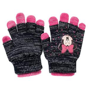 2 Paar Minnie Maus Handschuhe mit Effektgarn