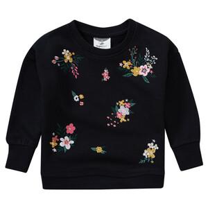 Mädchen Sweatshirt mit Blumen-Stickerei