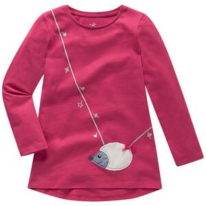 Mädchen Langarmshirt mit Igel-Applikation