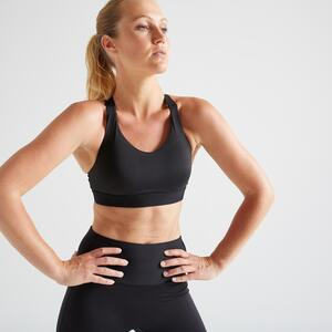 Sport BH FBRA 500 Fitness Cardio Damen schwarz