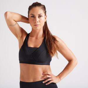 Sport BH Fitness Cardio 900 Damen schwarz