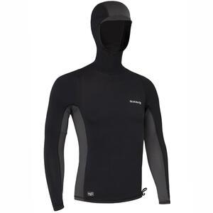 UV-Shirt Surfen Top 500 mit Kapuze Herren schwarz