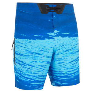 Boardshorts Surfen Standard 900 Trash blau