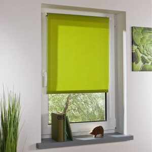 Bella Casa Klemmfix-Rollo, ca. 150 x 45 cm, grün
