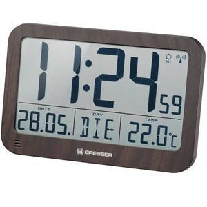 Bresser® MyTime MC LCD Wanduhr holzoptik