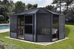 Sojag Aluminium Pavillon und Wintergarten Charleston 12x15 anthrazit
