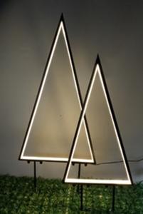 """Star-Max Gartenstecker """"Baum"""" mit Neonlichtband, 96 warm weißen LED"""