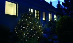 Star-Max LED Lichternetz 2 x 2 Meter mit 160 warm weiße LED´s