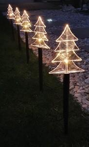 Star-Max LED-Leuchtstäbe Tannenbaum 10 Erdspieße