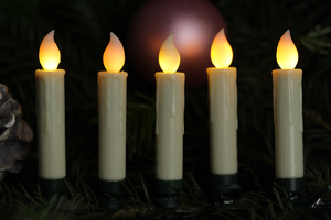 Star-Max LED Christbaumkerzenset mit 30 kabellosen Kerzen mit weißer Flamme