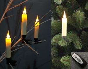 Star-Max LED Christbaumkerzenset mit 30 kabellosen Kerzen mit Acrylflamme