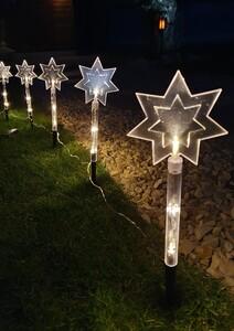 Star-Max LED-Leuchtstäbe Stern 5 Erdspieße
