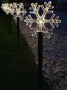 Star-Max LED-Leuchtstäbe Schneeflocke 5 Erdspieße