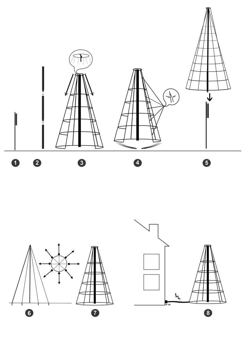 Bild 4 von Star-Max Galaxy LED Tannenbaum 300 cm mit 480 warm weißen LED