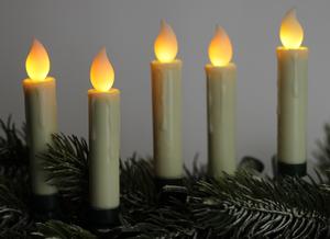 Star-Max LED Christbaumkerzenset mit 10 kabellosen Kerzen mit weißer Flamme