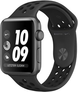 Apple Nike+ Series 3 GPS, Aluminiumgehäuse mit Nike Sportarmband 38mm Watch (Watch OS 5)