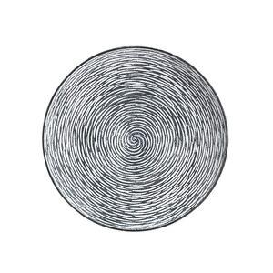Holz-Dekoteller 29,5cm Schwarz/Weiß