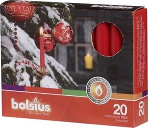 Bolsius Christbaumkerzen ,  rot, Höhe 9,6 cm, Ø 1,2 cm, 12er Pack