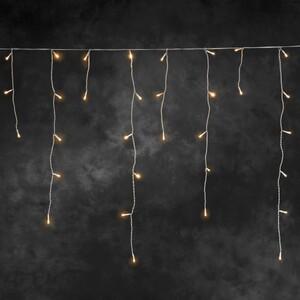 Konstsmide LED Eisregen Lichtervorhang für Außen 336 LED, bernstein