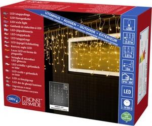 Konstsmide LED Eisregen Lichtervorhang für Außen 200 LED, bernstein