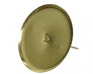 Kaemingk Adventskerzenhalter ohne Dorn ,  Ø 8 cm, hellgold