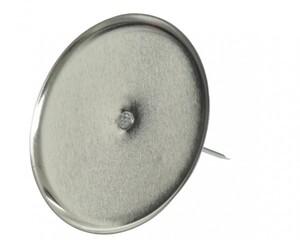 Kaemingk Adventskerzenhalter ohne Dorn ,  Ø 8 cm, silber