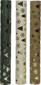 Kaemingk Samtstoff beige, grün oder braun, 35 x 200 cm