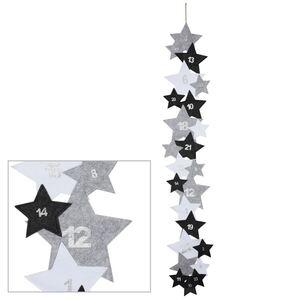 Filz-Adventskalender Sterndesign 210x35cm