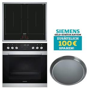 Siemens Einbau-Herd-Set MKP 3 DV 61 = HE378GTS1 + EM645CQB5M + HZ317000