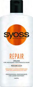 Syoss Shampoo, Spülung oder Haarkur