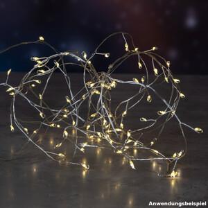 LED-Cluster Lichterkette 200 LEDs warmweiß aus Silberdraht