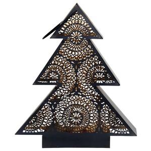 Windlicht Tree 26x8x31 cm schwarz/gold