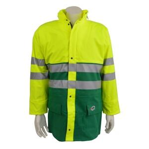 Warnschutz Regenjacke gelb/grün EN471 Gr.S-XXXL Warnschutz Arbeitsjacke Parka