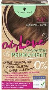 Schwarzkopf Only Love Coloration Permanent Farbe 747 Natürliches Kupfer