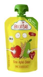 FruchtBar Bio Fruchtpüree Birne, Apfel, Dinkel