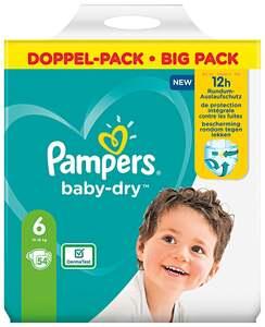 Pampers Windeln baby-dry Größe 6 (13-18 kg) Doppelpack