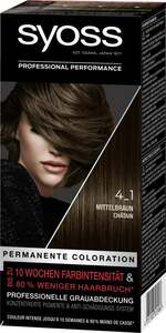 Syoss Professional Performance permanente Coloration 4_1 Mittelbraun