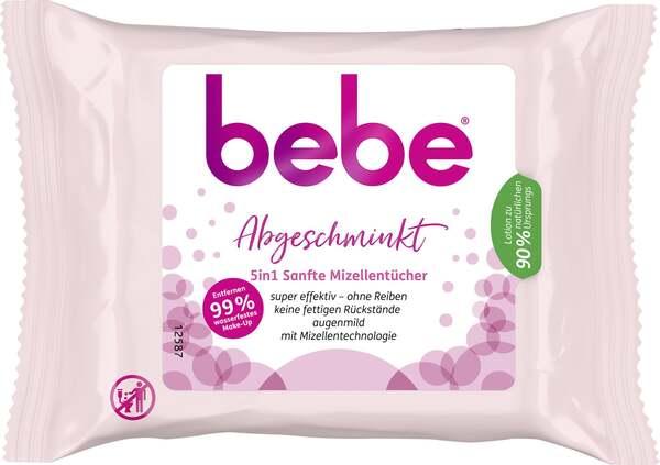 bebe® 5in1 sanfte Mizellentücher